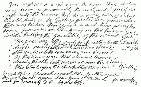 Handwritten note